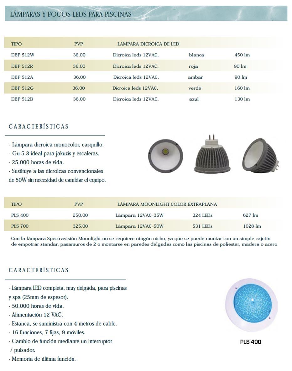 Lámparas Focos para Piscinas